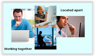 Working together even though you are located apart